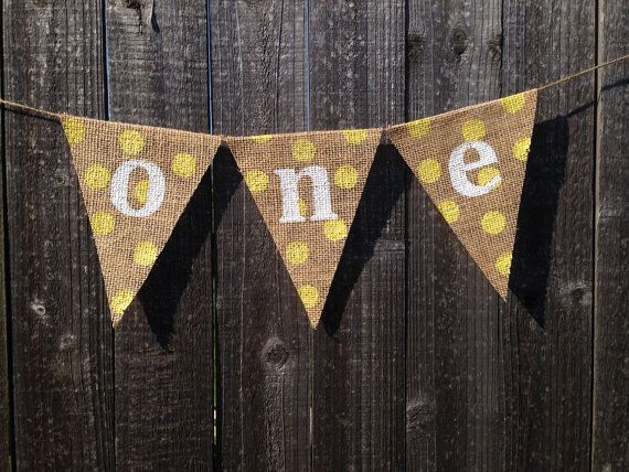 Babies First Birthday One Burlap Banner/Bunting on Etsy, $11.00