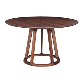 Moe S Home Collection Aldo Walnut Round Dining Table Cb