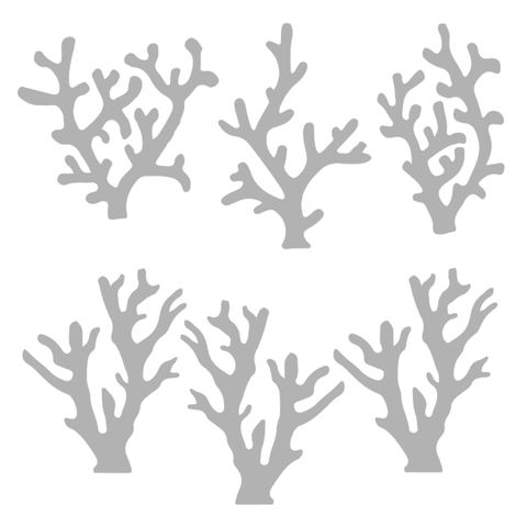 Beach Stencil Sea Coral 6\