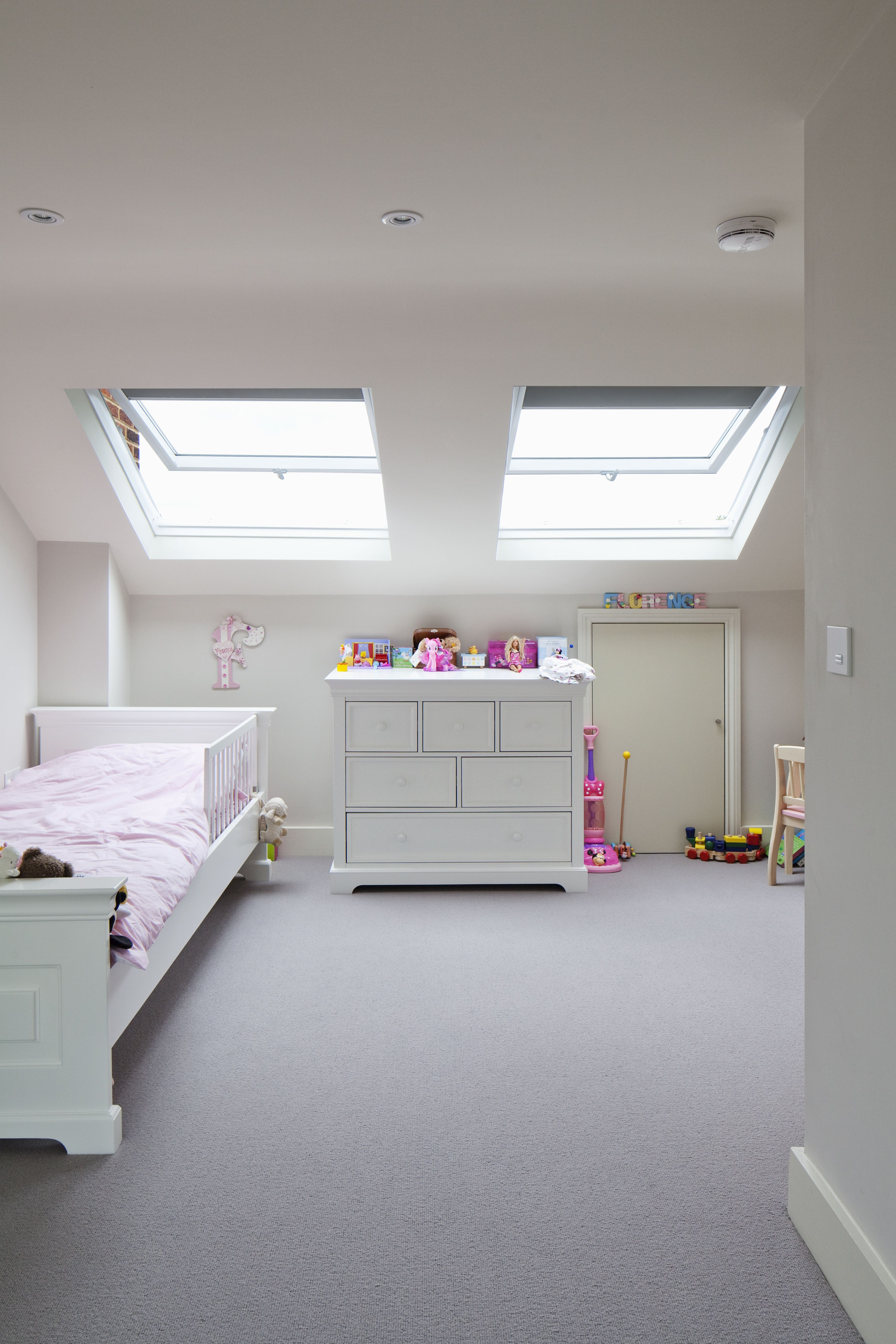 Loft bedroom Extension Hidden eaves storage
