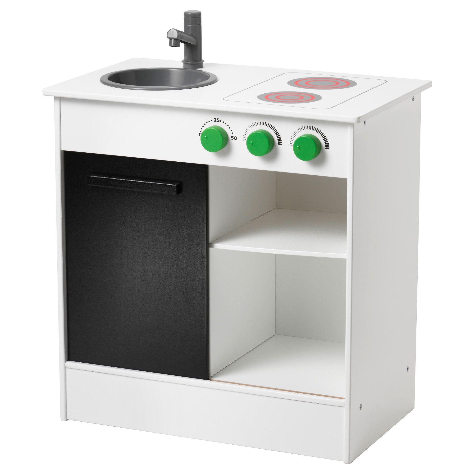 Wood Play Kitchen White nybakad play kitchen, white | mini kitchen, sliding door and