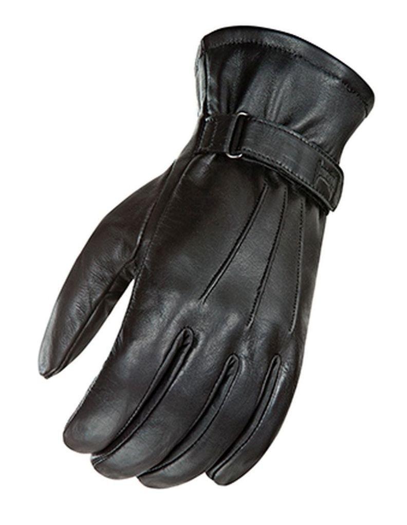 Joe rocket leather motorcycle gloves - 2015 Joe Rocket Power Trip Jet Black Lined Mens Leather Motorcycle Gloves