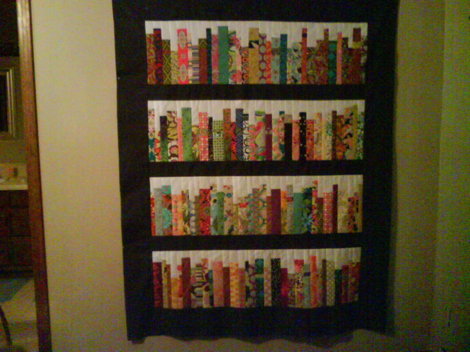 Bookshelf quilt by diannemc from the quilitngboard.com Quilting Pinterest Book quilt ...
