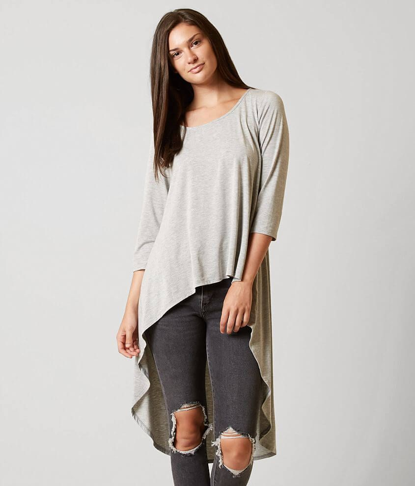 e26302d5938 red by BKE High Low Top - Women s Shirts Blouses in Grey
