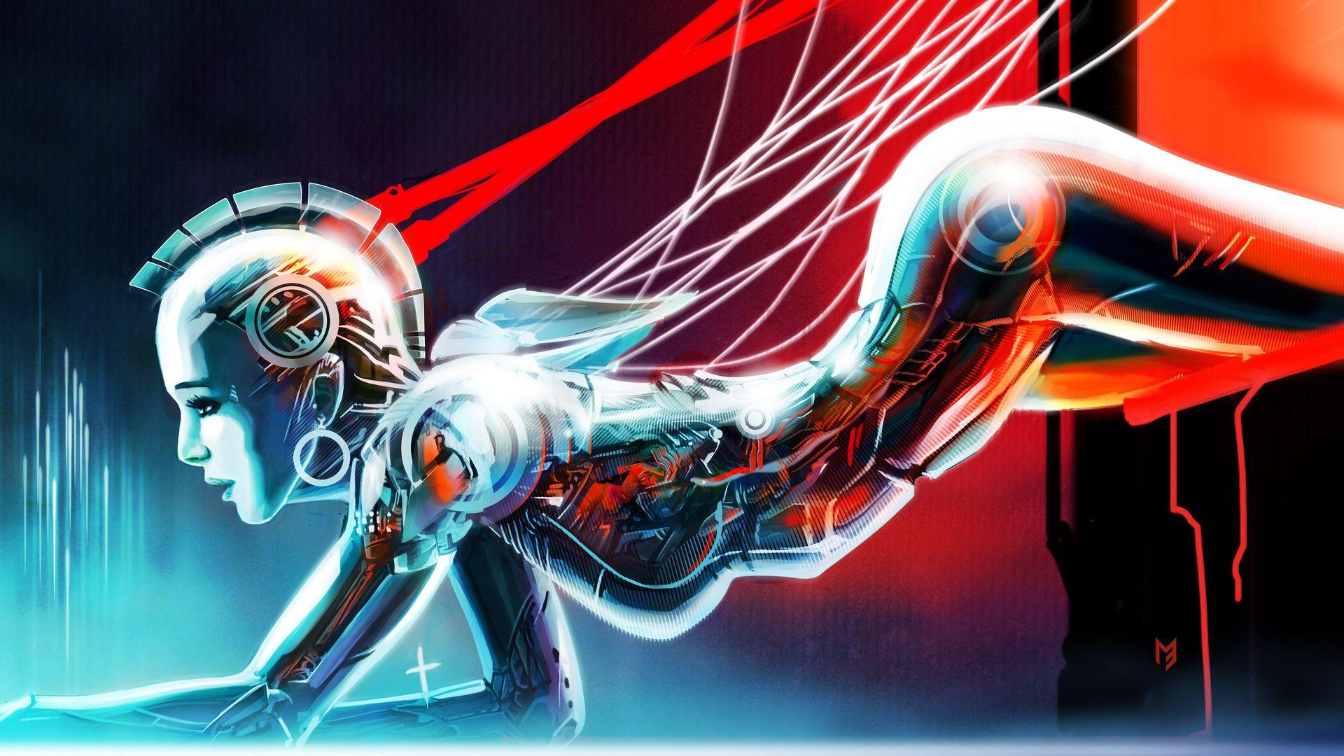 Fond-ecran-hd-science-fiction-wallpaper-2-772 - All-images | Robot wallpaper, Robot girl, Cyborg