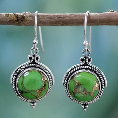 Turquoise Splendor Drop Earrings