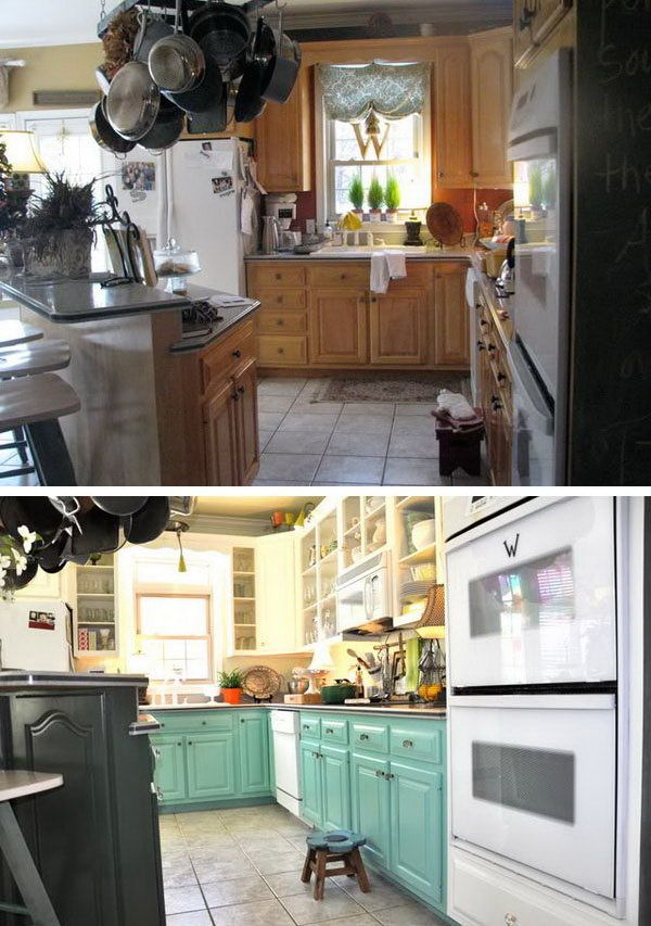 Before And After 25 Budget Friendly Kitchen Makeover Ideas Mesmerizing How To Paint Kitchen Cabinets White Review
