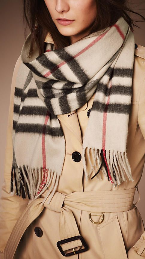 d604cf005a50 the heritage check cashmere scarf... I already have one in camel check but  the stone check is gorgeous!