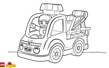 Lego Duplo Tow Truck Coloring Page Truck Coloring Pages Lego