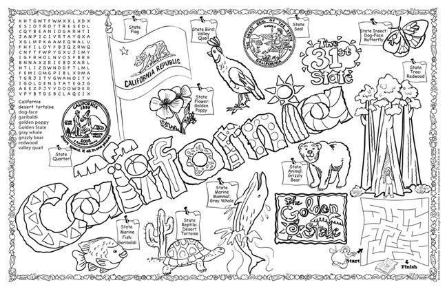 pennsylvania state seal coloring page - california seal coloring page california symbols facts