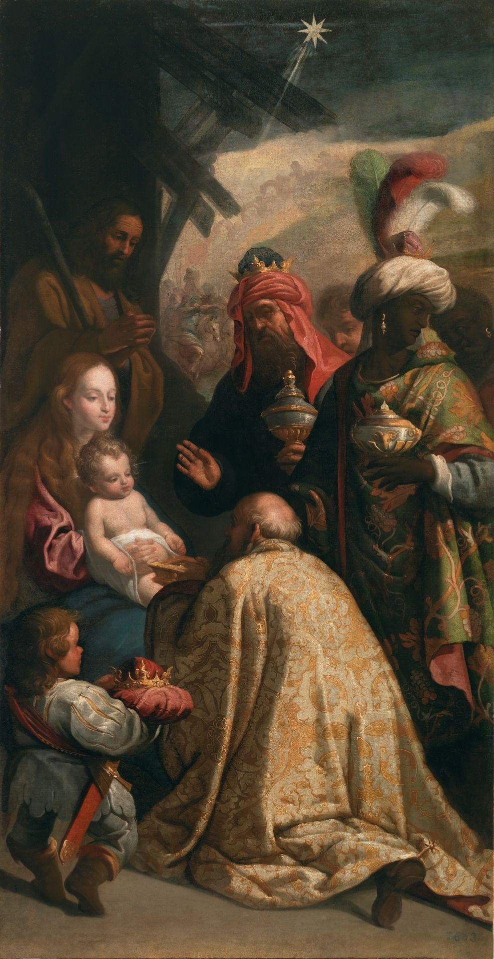 Adoration Of The Magi Adoracion De Los Reyes Magos Siglo Xvii Eugenio Cajes Jesus Christ Epi Produccion Artistica Magos De Oriente Obras De Arte