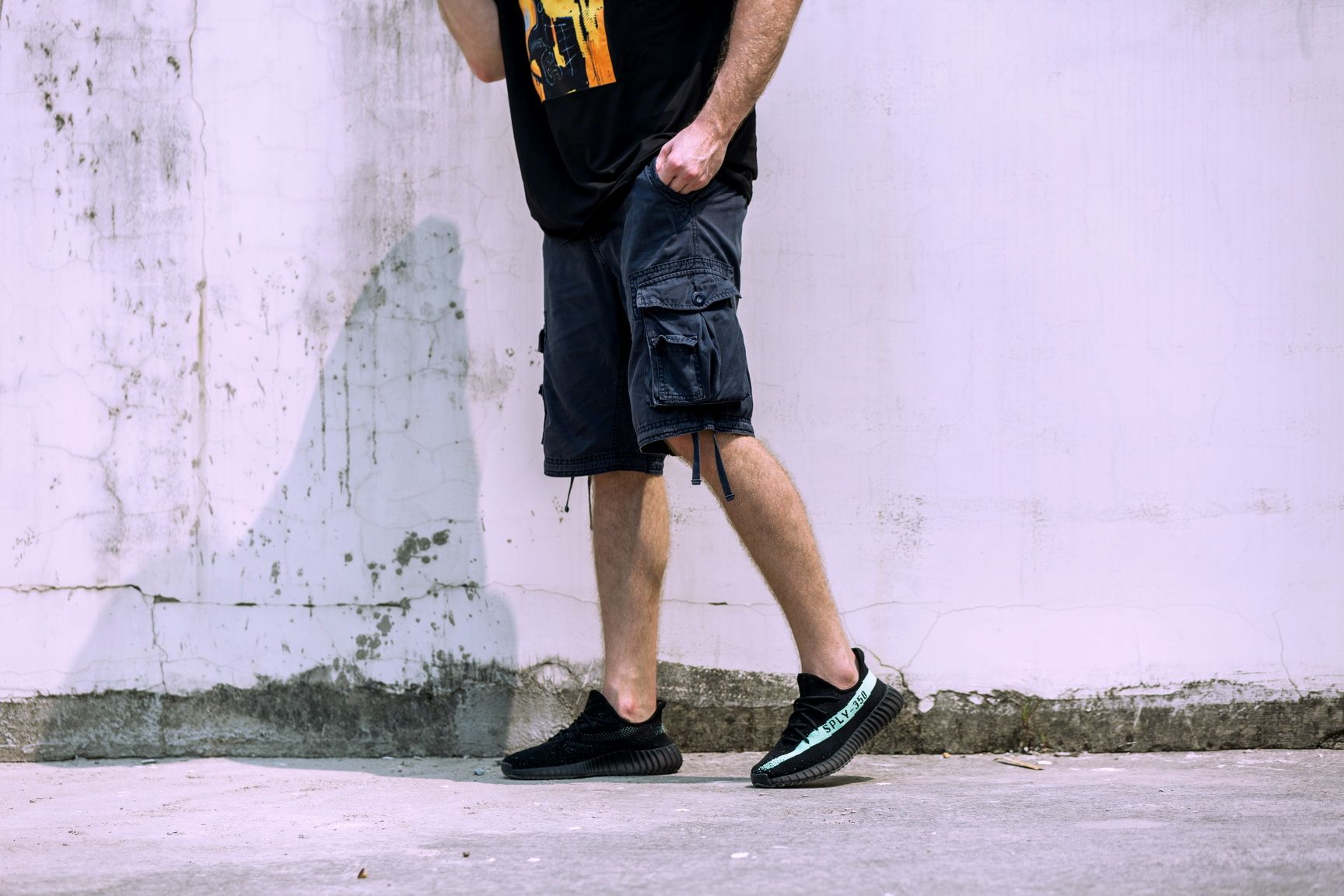 Adidas Yeezy Boost 350 V2 Black-Green 1