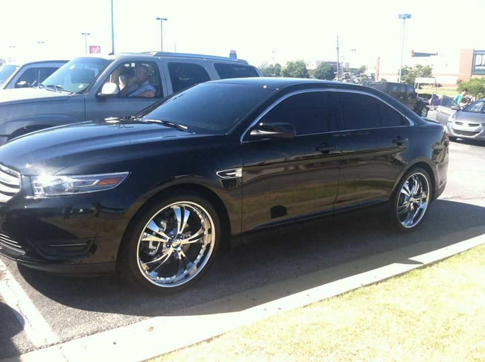 Ford Taurus custom wheels, window tint Bob Hurley