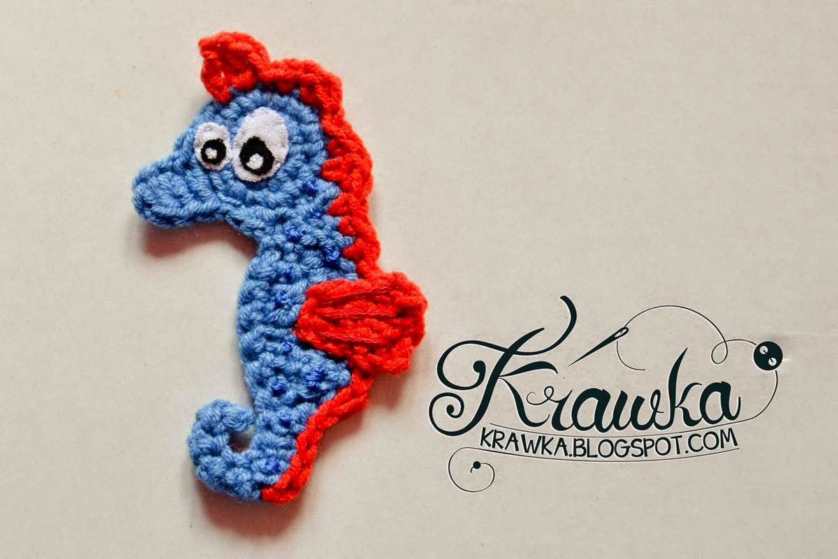 Aplique sea horse aplicatii crosetate pinterest crochet ravelry seahorse applique pattern by kamila krawka krawczyk bankloansurffo Image collections