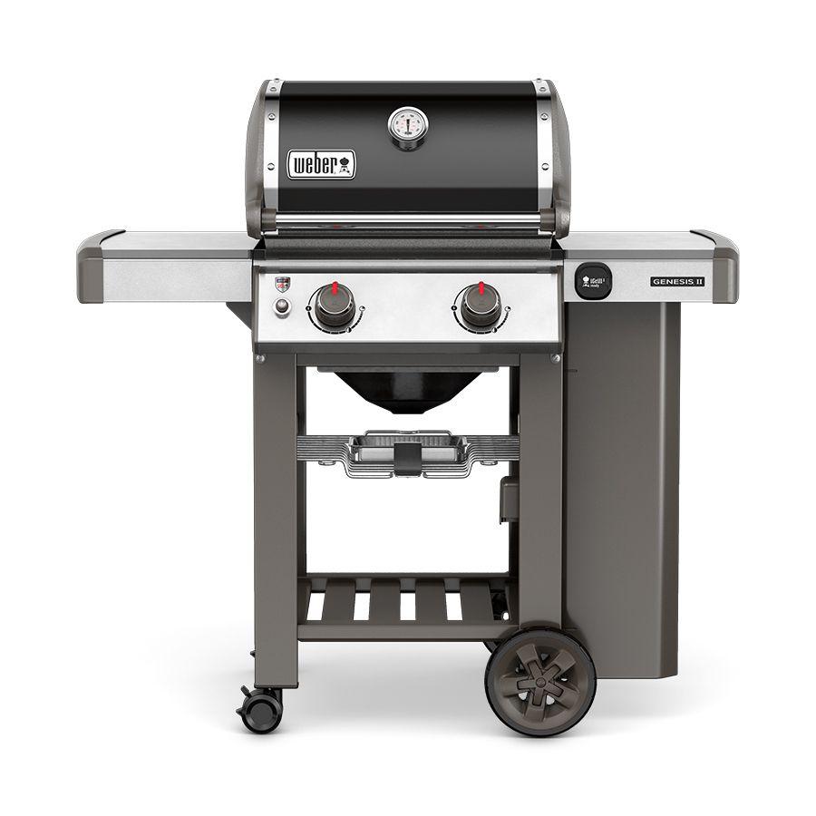 Weber Genesis Ii Black 2 Burner 26000 Btu Liquid Propane Gas Grill Natural Gas Grill Gas Grill Best Gas Grills
