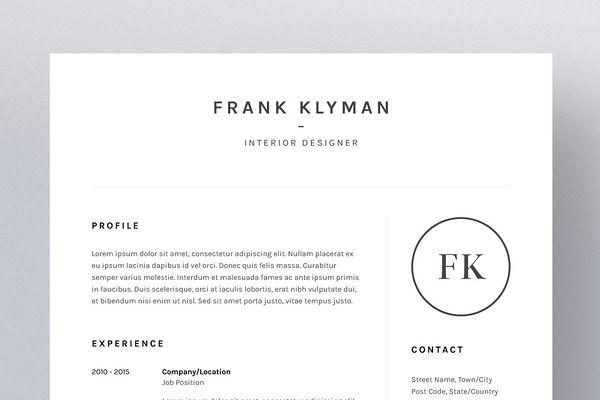 Frank Klyman  ResumeCv Template  Hunting    Cv