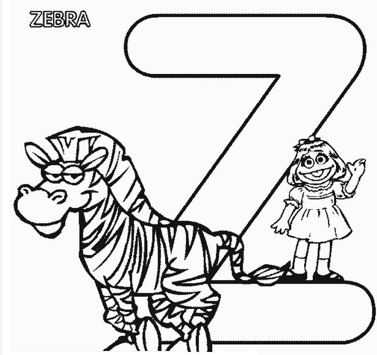 Pin By Adriana Donea On Stempel Zebra Coloring Pages Sesame Street Coloring Pages Alphabet Coloring Pages