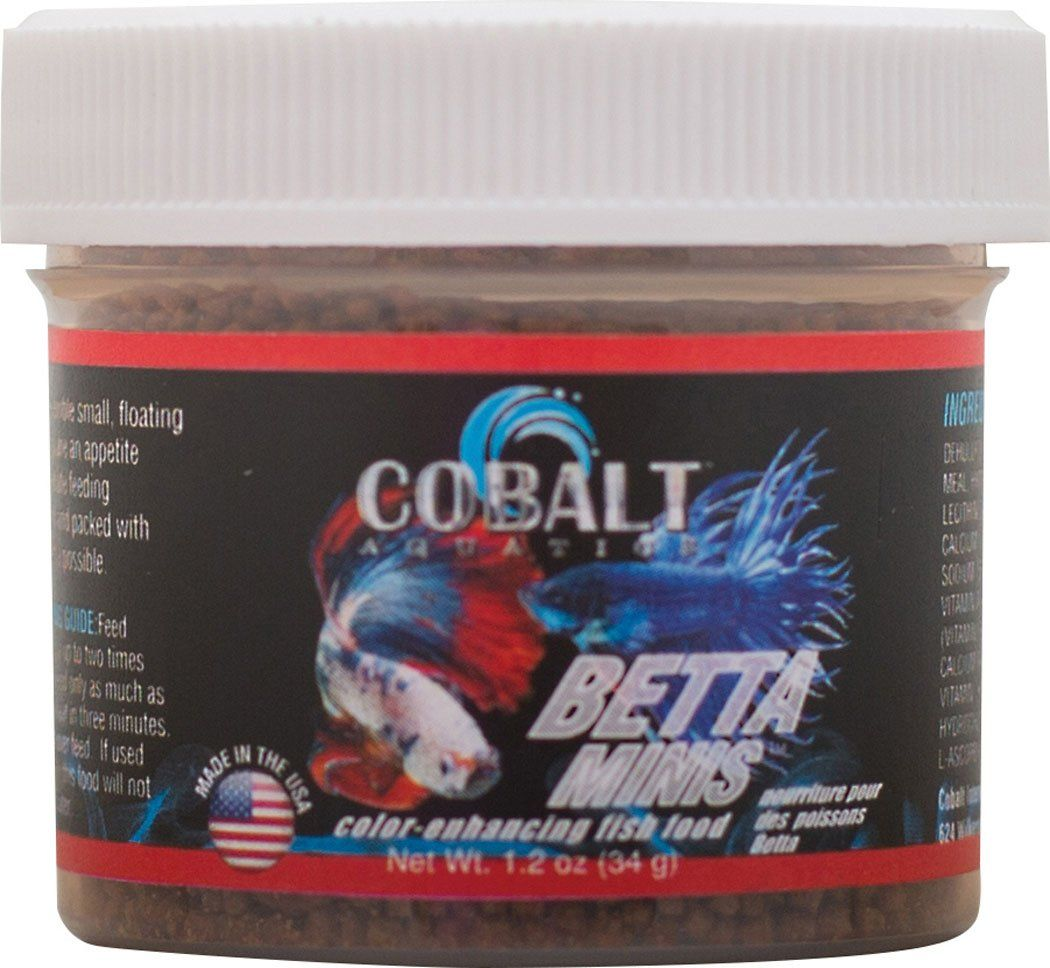 Cobalt International Inc-Betta Minis Color Enhancing Fish Food 1.2 ...