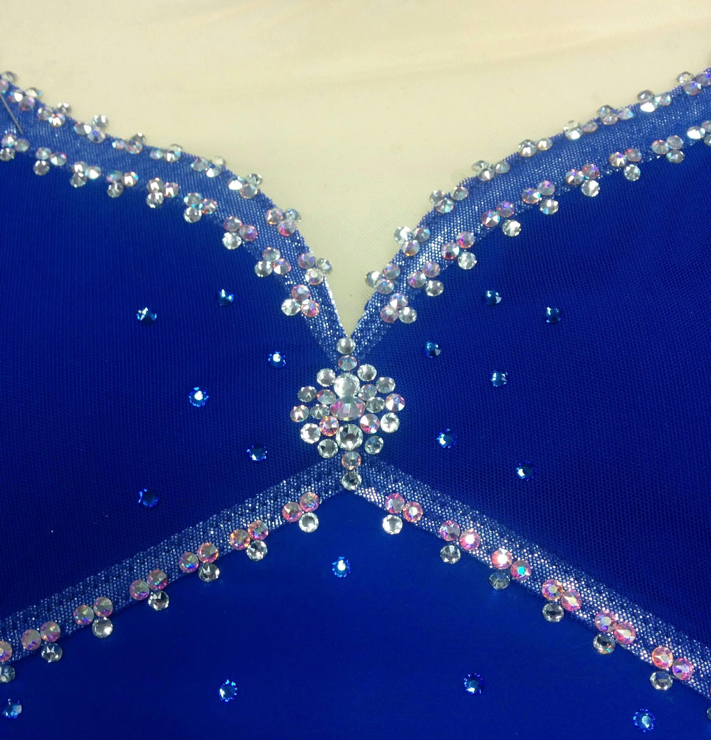 Www Sk8gr8designs Com Swarovski Rhinestones On A Sapphire Blue