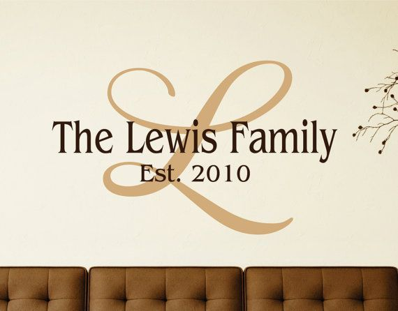 Personalized Family Name Signs Name Wall Decal Last Name Sign - Family monogram wall decals