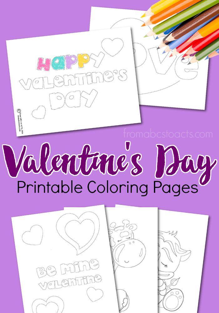 Printable Valentine Coloring Pages | Valentine stuff, Kid printables ...