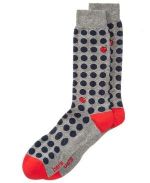 Bar Iii Men's Apple Dot Socks, Created for Macy's - Blue