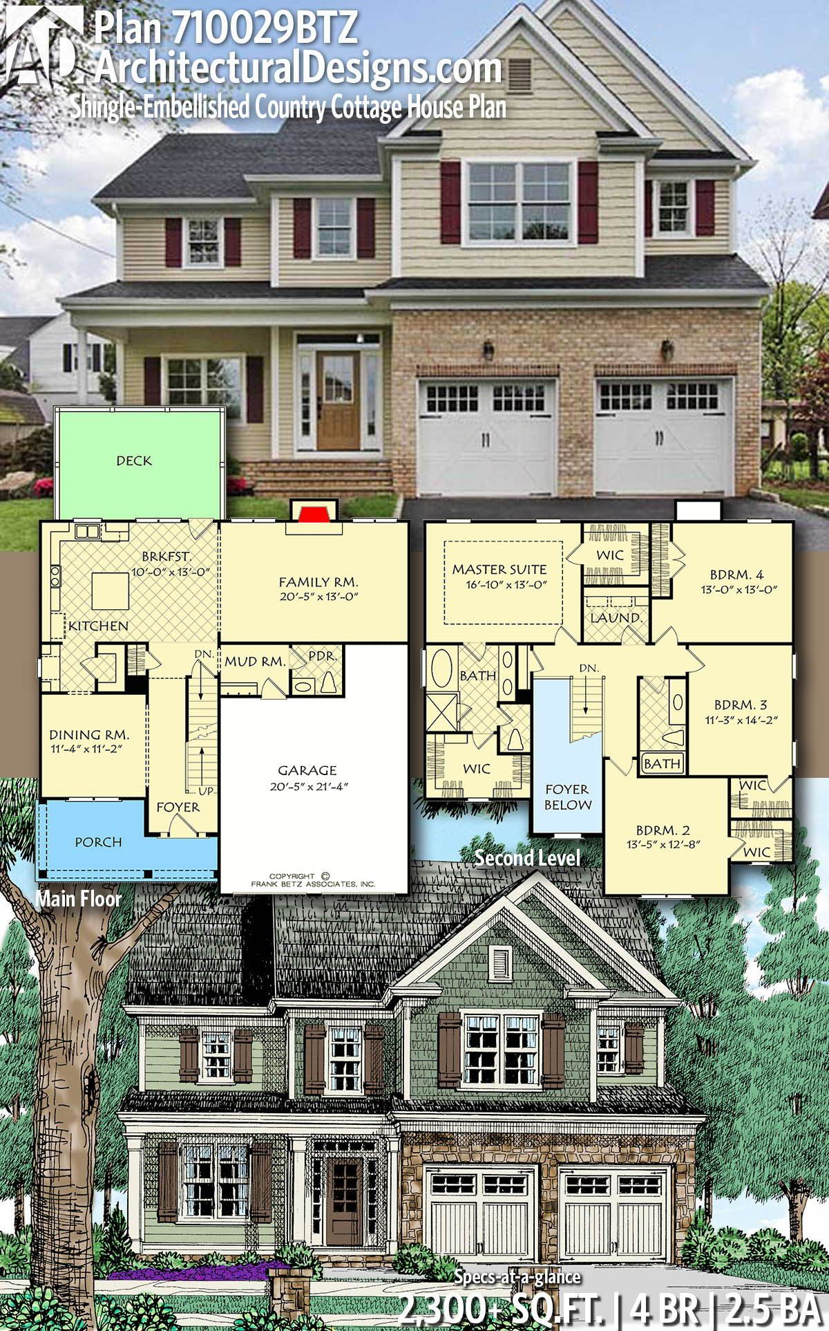 Architectural designs home plan btz gives you bedrooms baths and sq also rh co pinterest