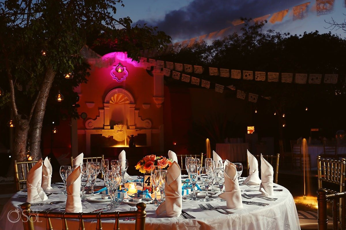 all inclusive beach wedding destinations%0A Riviera Maya Wedding at  Valentin Imperial Maya AllInclusive resort   beautiful table set