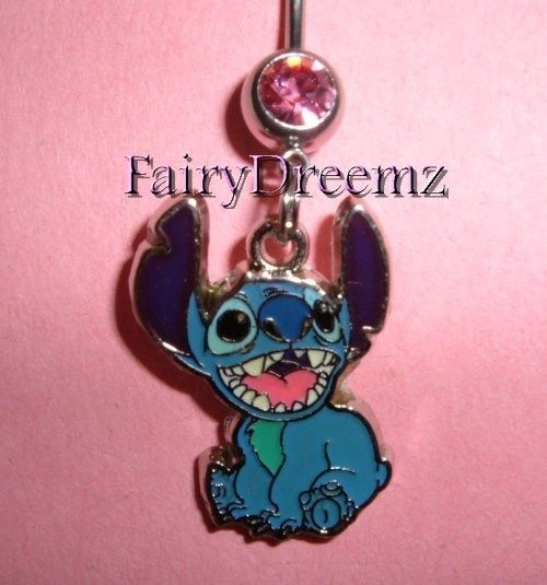 Lilo And Stitch Laughing Stitch Disney Belly Ring Piercings