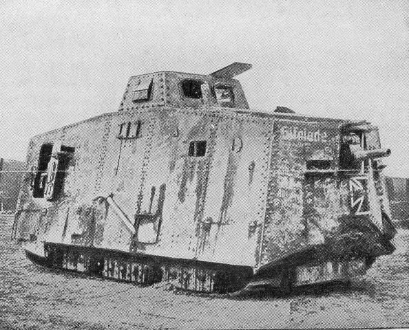 A German Tank of WW1. These monsters with a crew of 16 from 6 ...