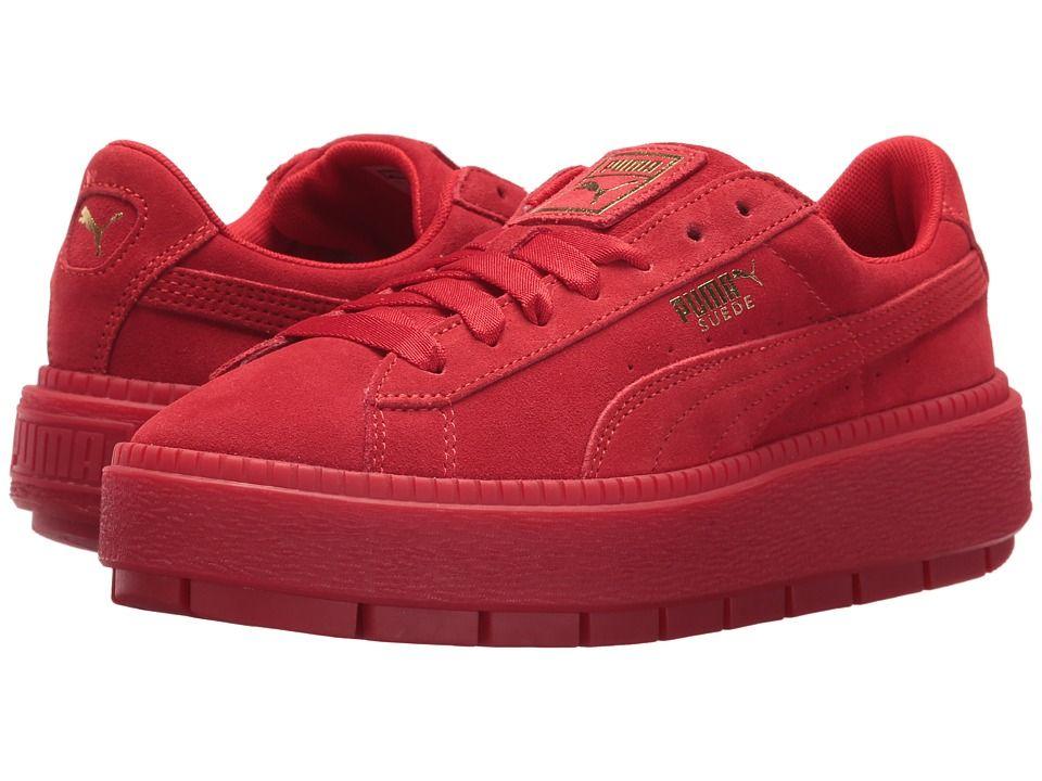 PUMA Suede Platform Trace VD Women's Shoes Red Dahlia