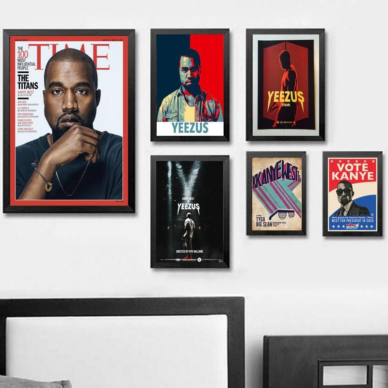CANVAS Kanye West The Life Of Pablo Silk Poster Rap HipHop Art Print POSTER