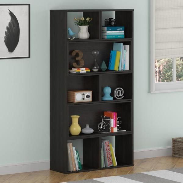 bookshelf cherry studios of idafla milled additional woods moon org ideas bookcase with sauder