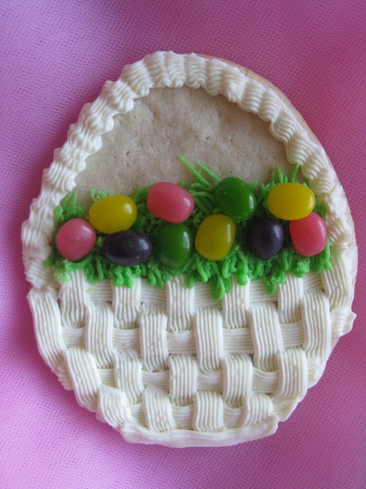 Easter Basket Cookies from Holly @ www.abakershouse.com ...