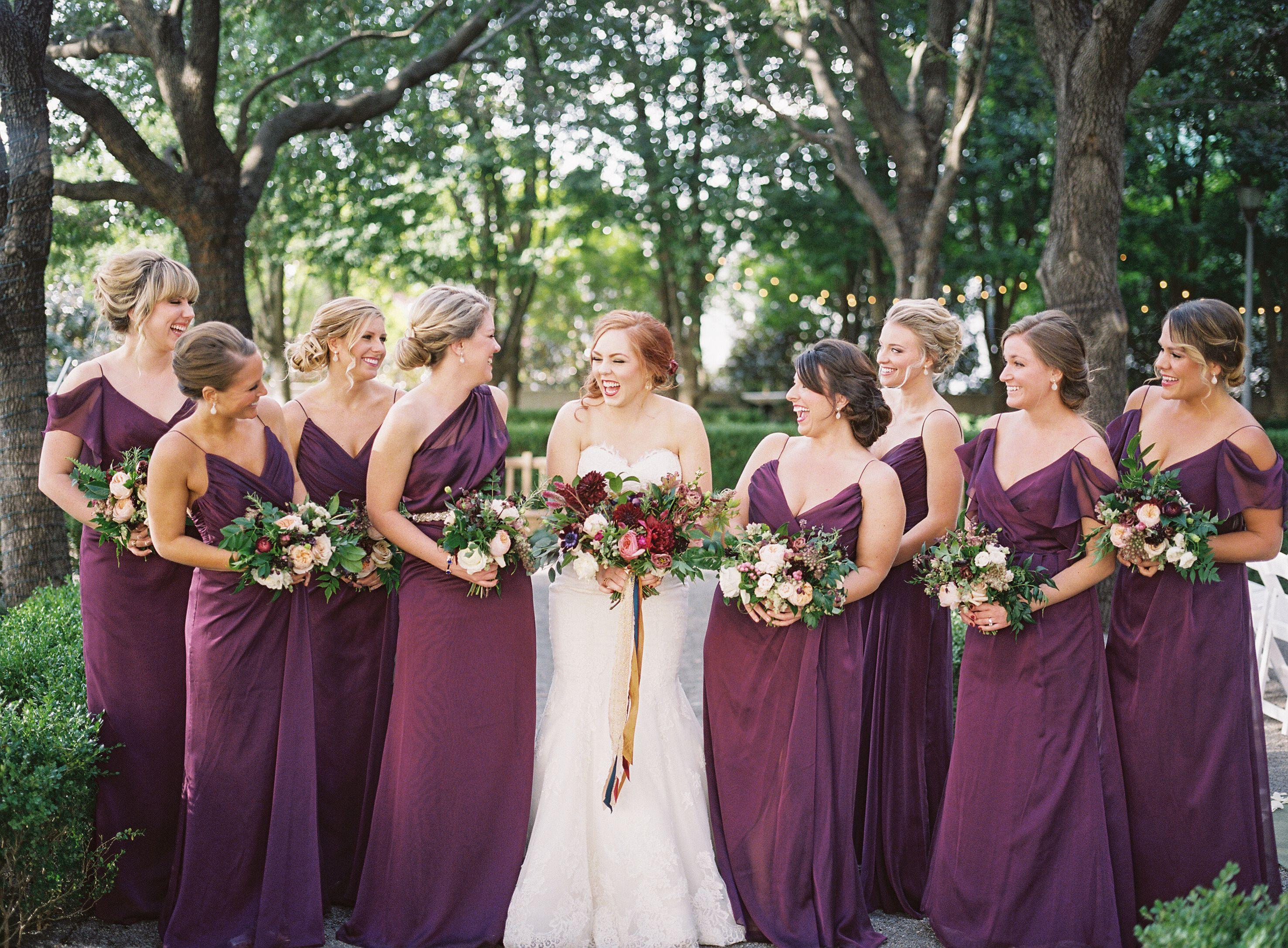 Burgundy For An October Wedding #dweddings #bridesmaid
