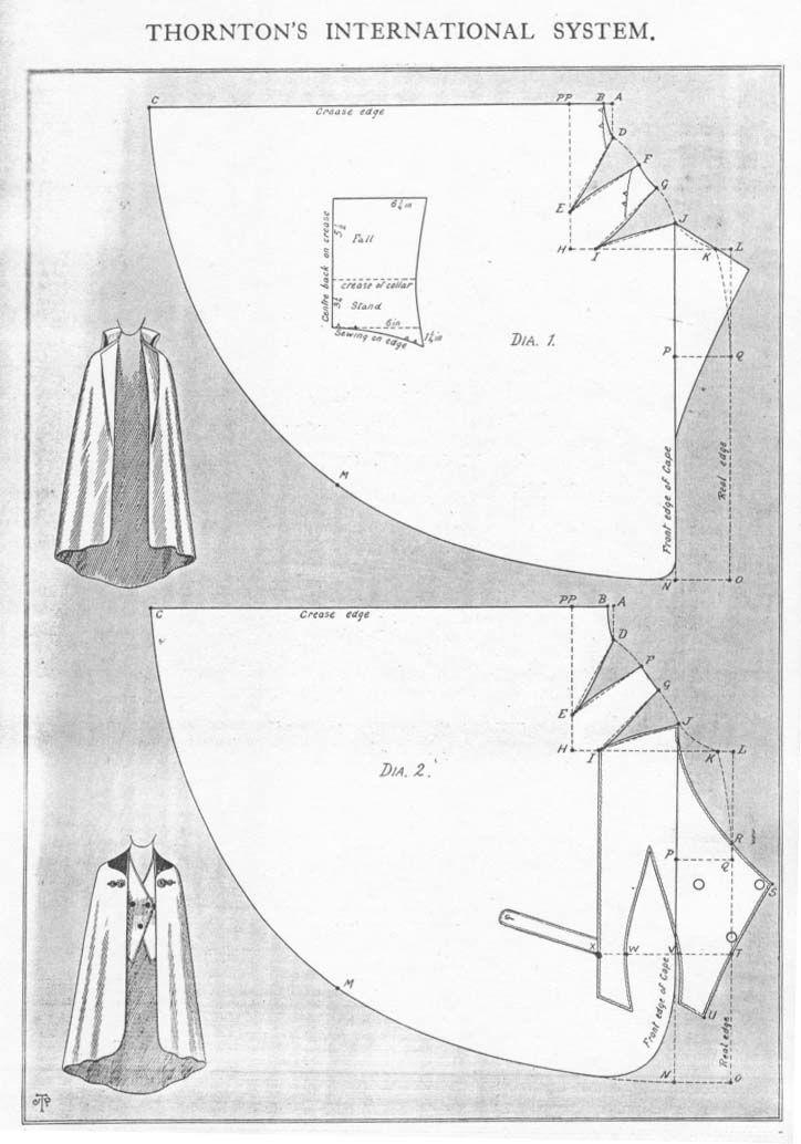 Cape, pattern instructions | molderiabase y transformacines ...