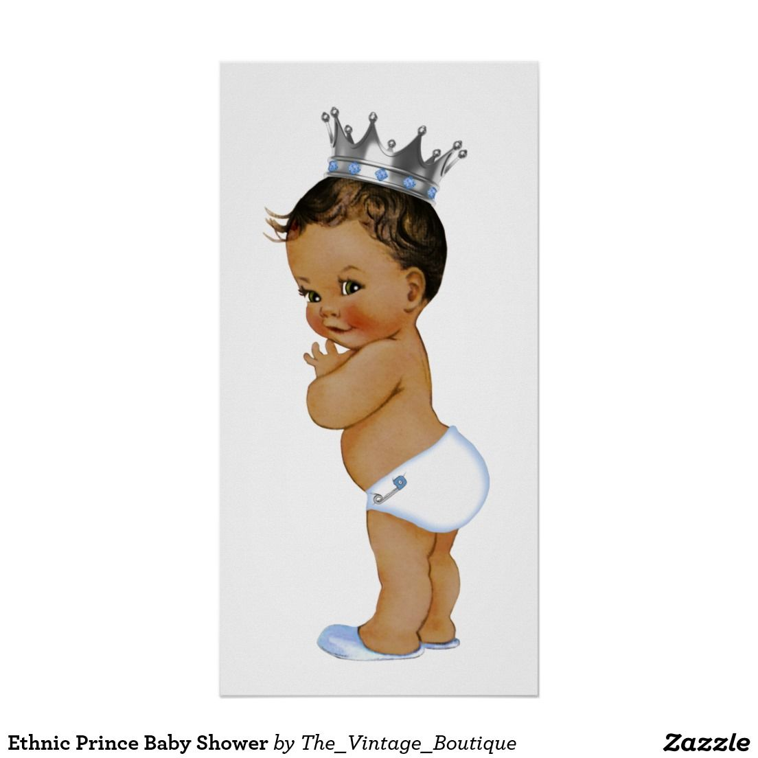 Ethnic Prince Baby Shower Poster