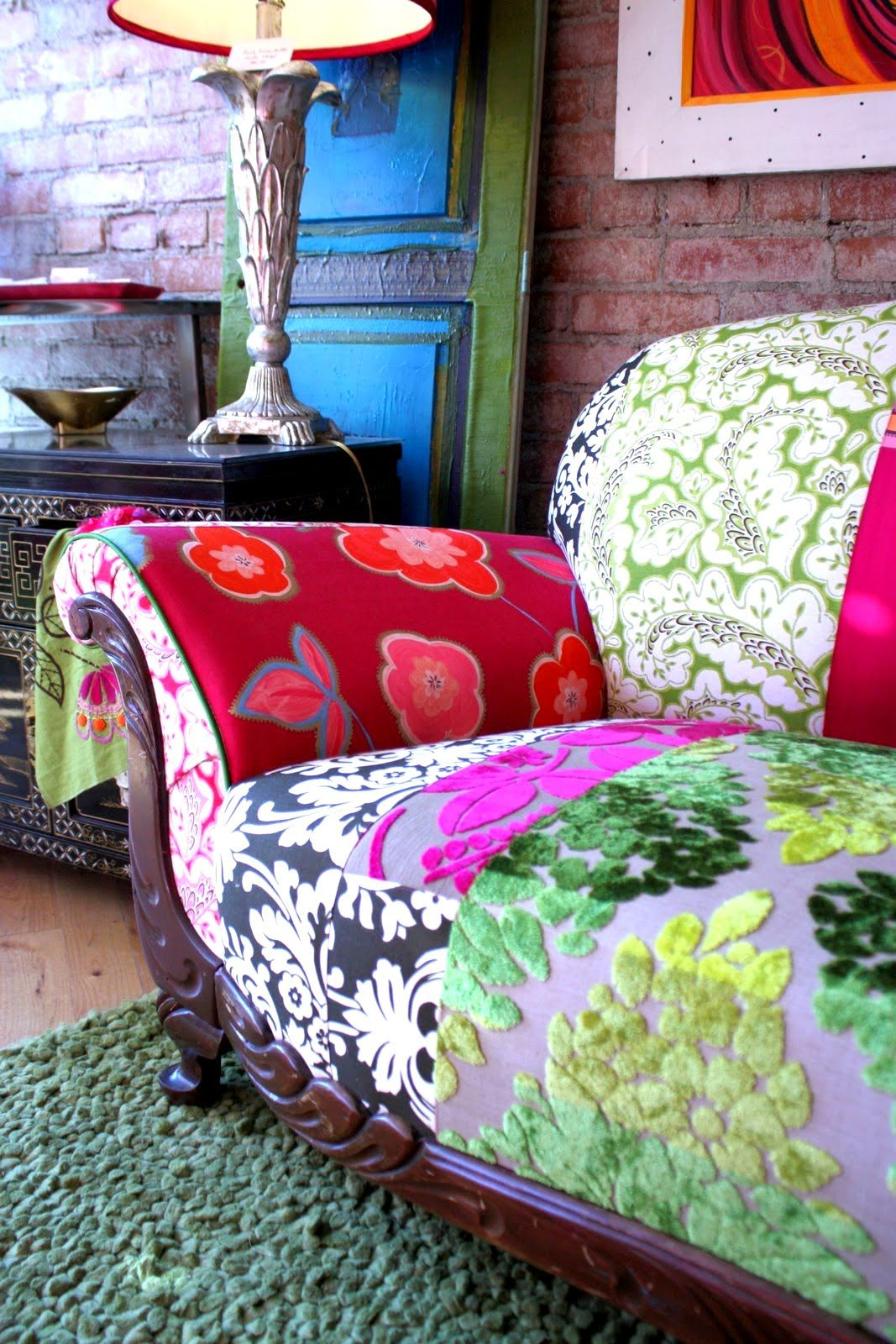 Fauteuil Bergere Ikea Repurposed Quilted 1920's Vintage Couch From Designers