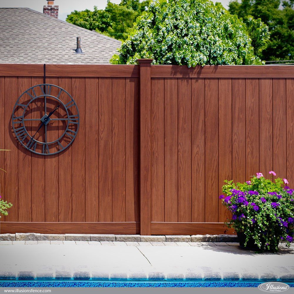 Awesome Illusions Pvc Vinyl Fence Ideas And Images Staining Wood Fence Vinyl Fence Panels Cool Illusions