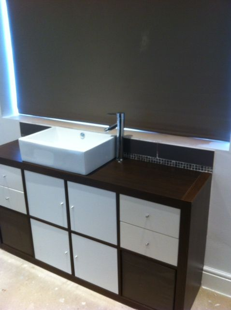 EXPEDIT and the Bathroom Sink | Ikea Kallax And Expedit | Ikea ...
