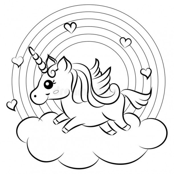 Cute Unicorn Stock Illustrations A 31 125 Cute Unicorn Stock Unicorn Coloring Pages Cute Coloring Pages Coloring Book Pages