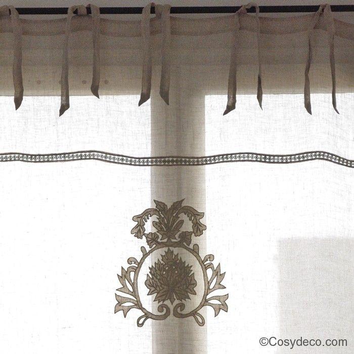 rideaux en voile de lin naturel et