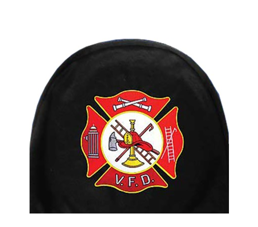 Eagle Emblems Volunteer Fire Dept Maltese Cross Car Headrest