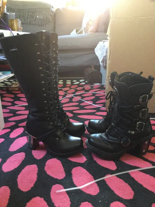 New and old New Rock boots!