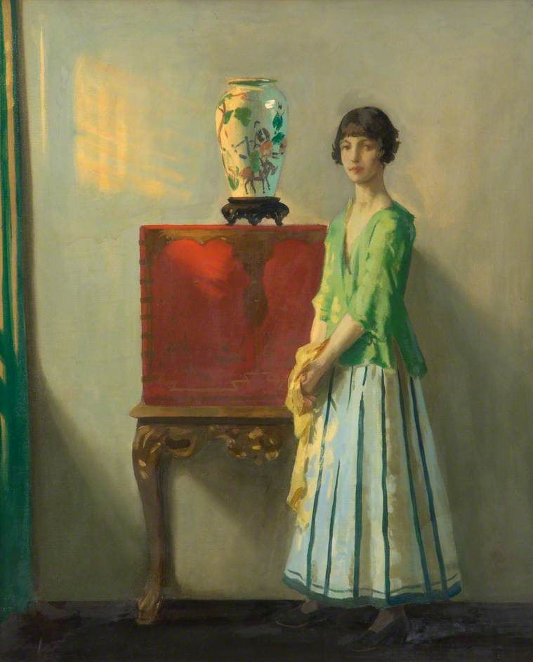 fleurdulys: The Red Lacquer Cabinet - Archibald George ...