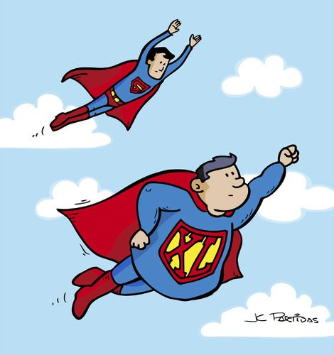 cartoons flying figures superhero