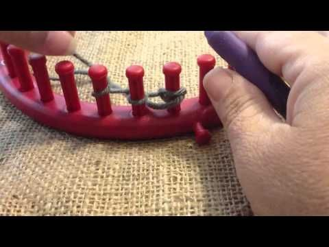 Double E Wrap Cast On For Loom Knitting Loom Stitches Techniques
