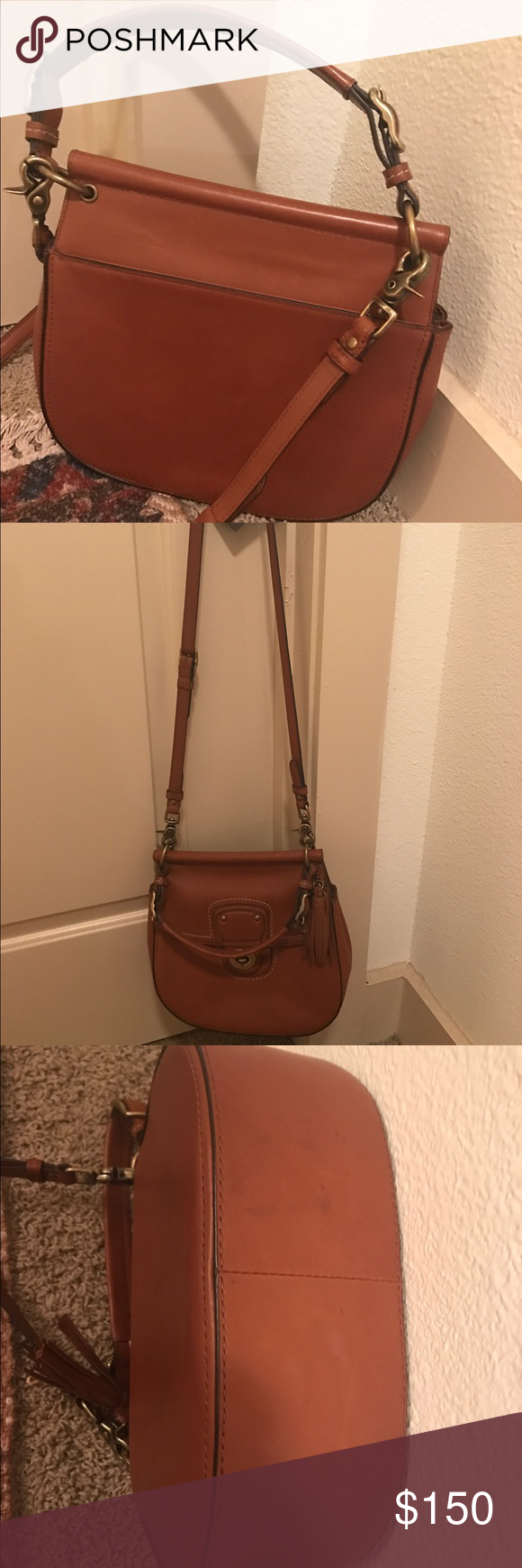 Coach Legacy Cross body Can be worn as a cross body or by the arm strap. Long pocket on the back side with a pocket on the inside. Coach Bags Crossbody Bags