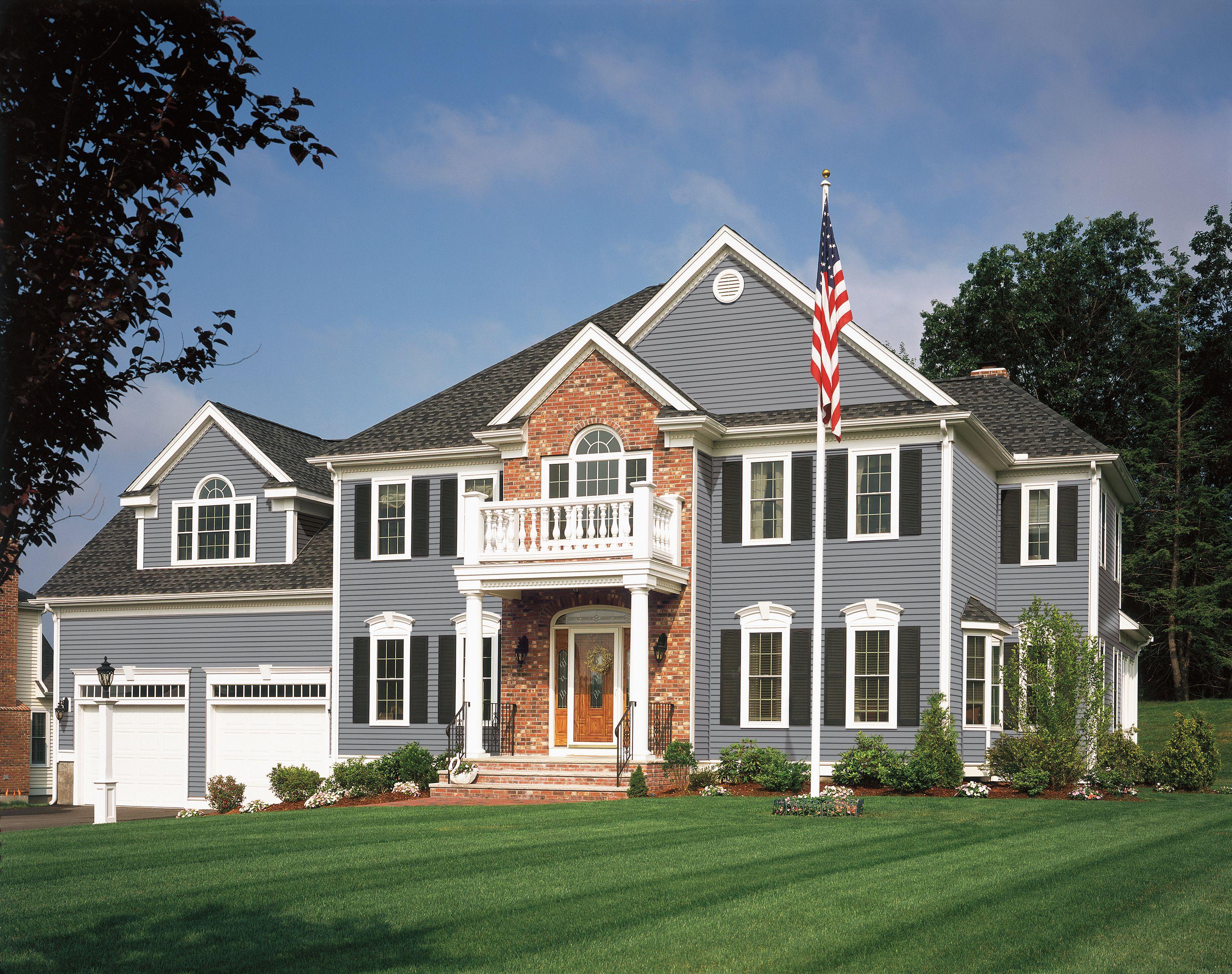 Certainteed Siding Monogram Flagstone Siding Colors For Houses House Siding Blue Siding