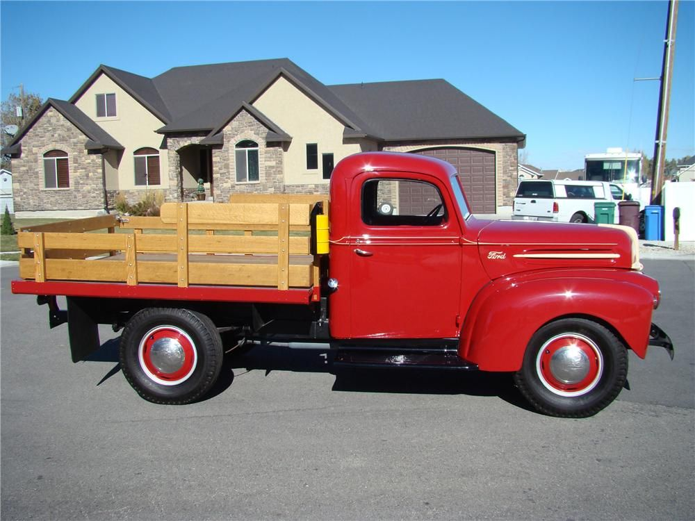 1947 Ford 1 Ton Flatbed Truck Side Profile 81872 Trucks Classic Pickup Trucks Diesel Trucks Ford
